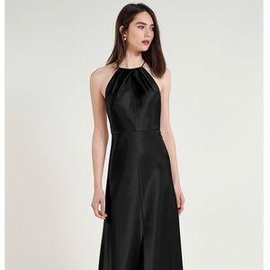 Jenny Yoo - Black Satin Cameron Dress- Size 0